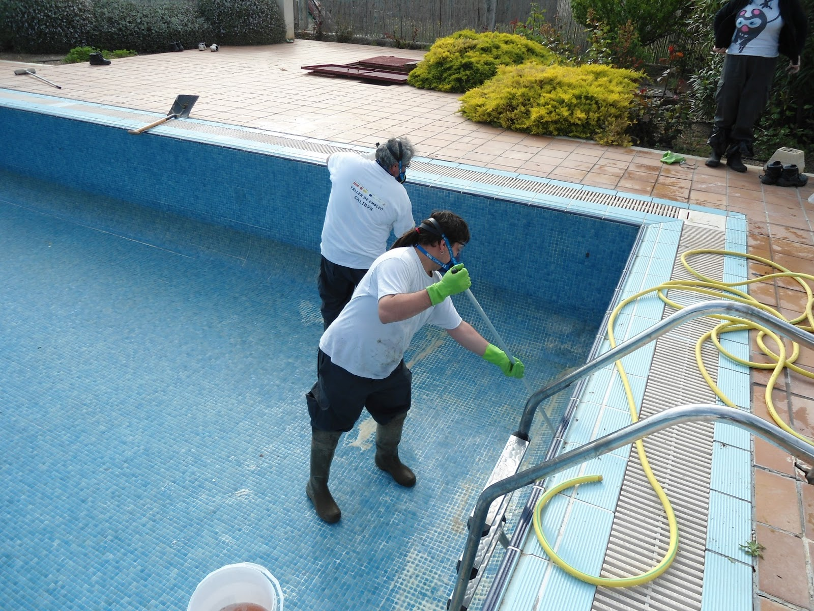limpiar con agua fuerte
